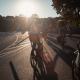 Mit dem Fahrrad bergauf Richtung Bleichstr