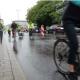 Mit dem Fahrrad auf dem Popupradweg in Pforzheim