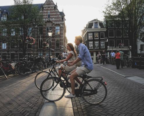 Mit dem Fahrrad in Holland
